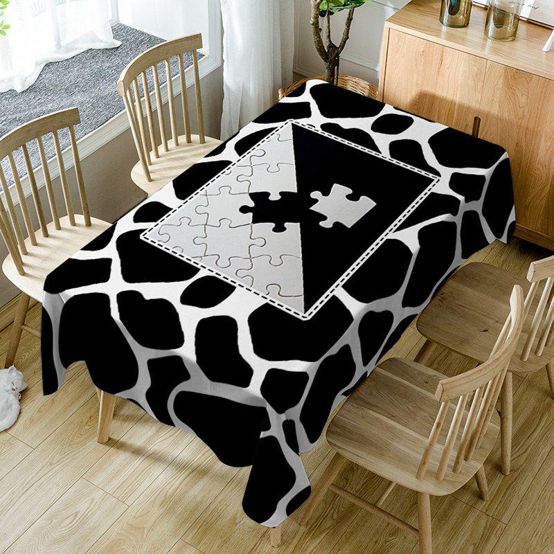 Best Jigsaw Print Fabric Waterproof Table Cloth