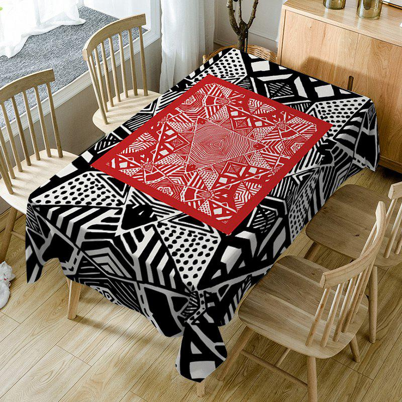 Online Geometric Print Fabric Waterproof Dining Table Cloth
