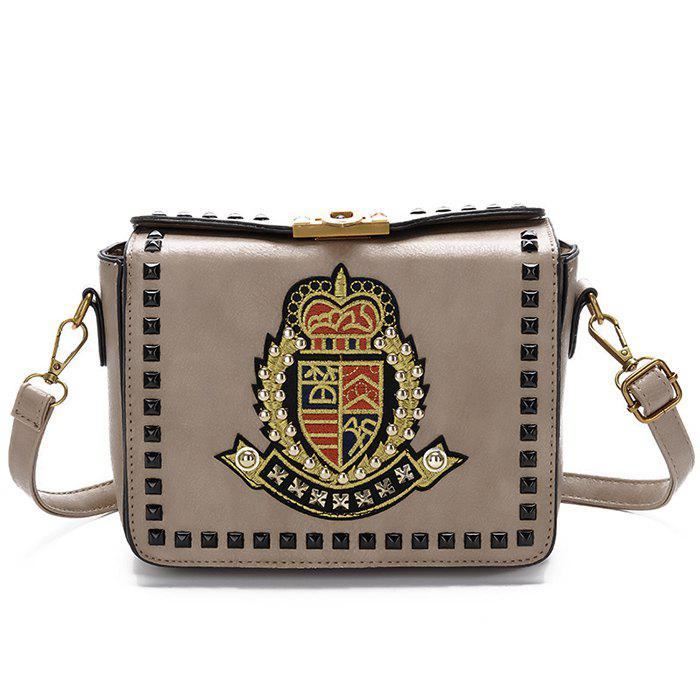 Latest Embroidery Studded Crossbody Bag