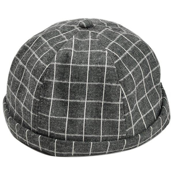 Shop Vintage Checked Pattern Embellished Beret Hat