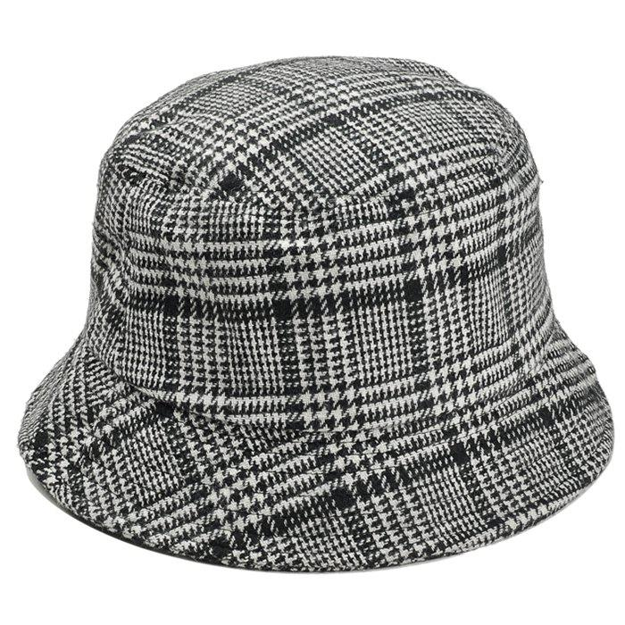 Outfit Simple Houndstooth Pattern Embellished Bucket Hat