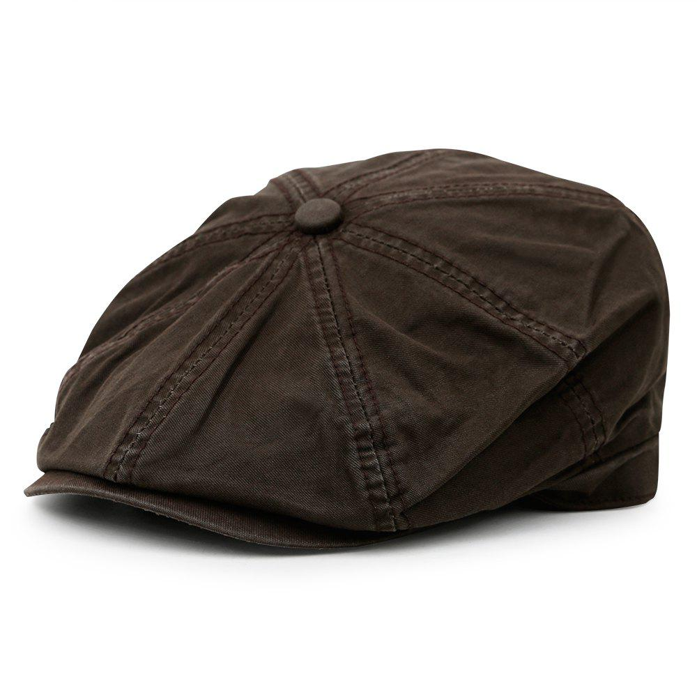Buy Simple Washed Pattern Embellished Octagonal Cap