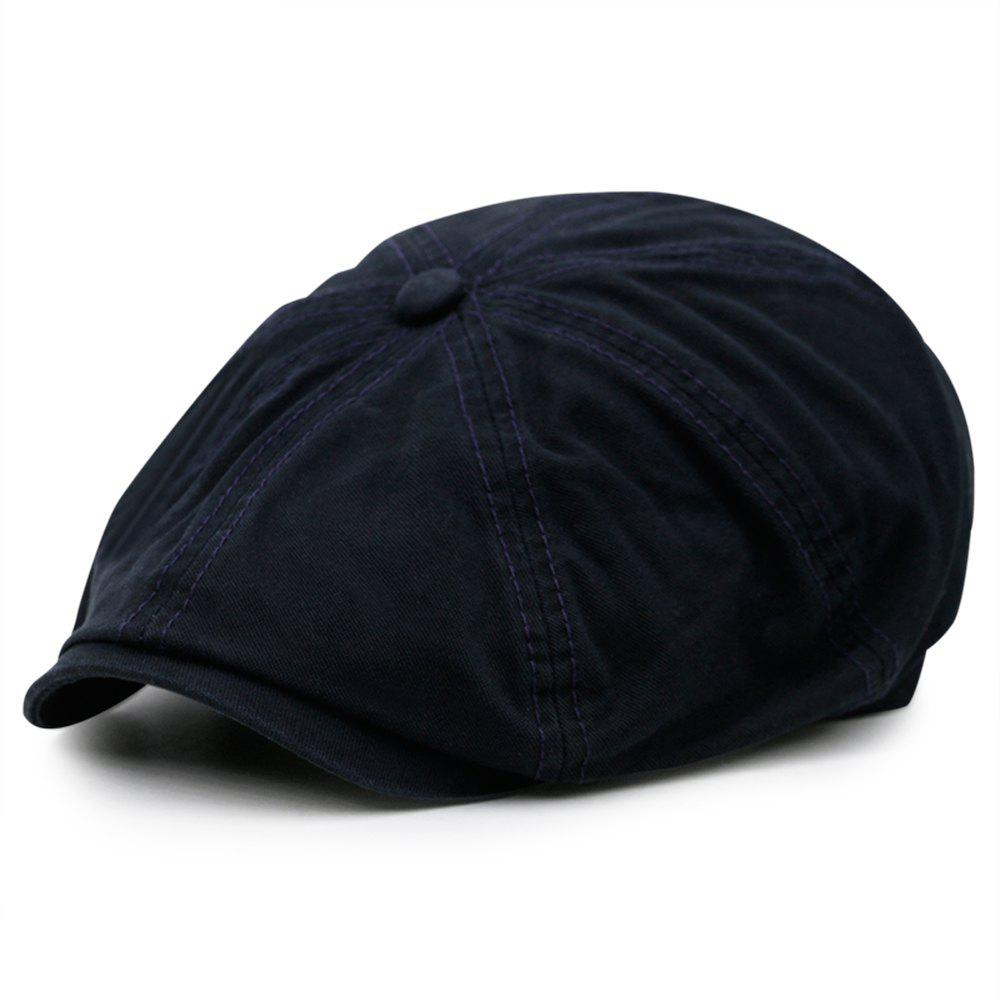 Cheap Simple Washed Pattern Embellished Octagonal Cap