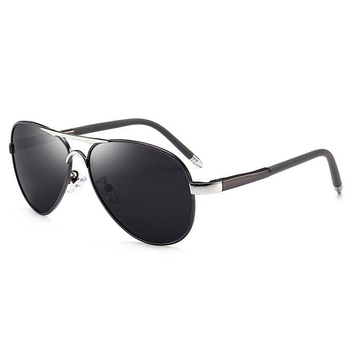 Outfits Unique Metal Full Frame Crossbar Embellished Pilot Sunglasses