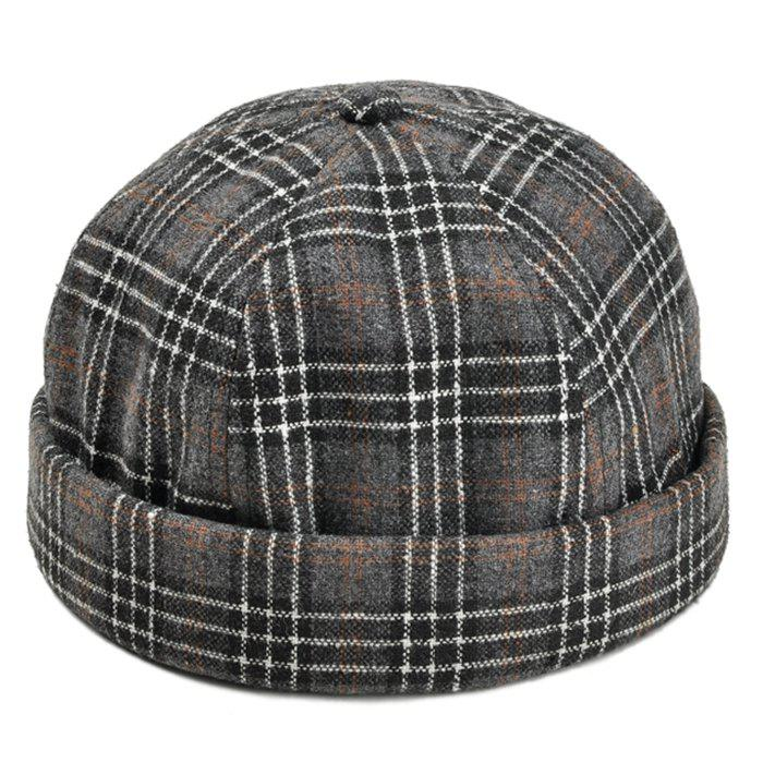 fe73384047407 2019 Retro Tartan Pattern Magic Sticker Beret Hat