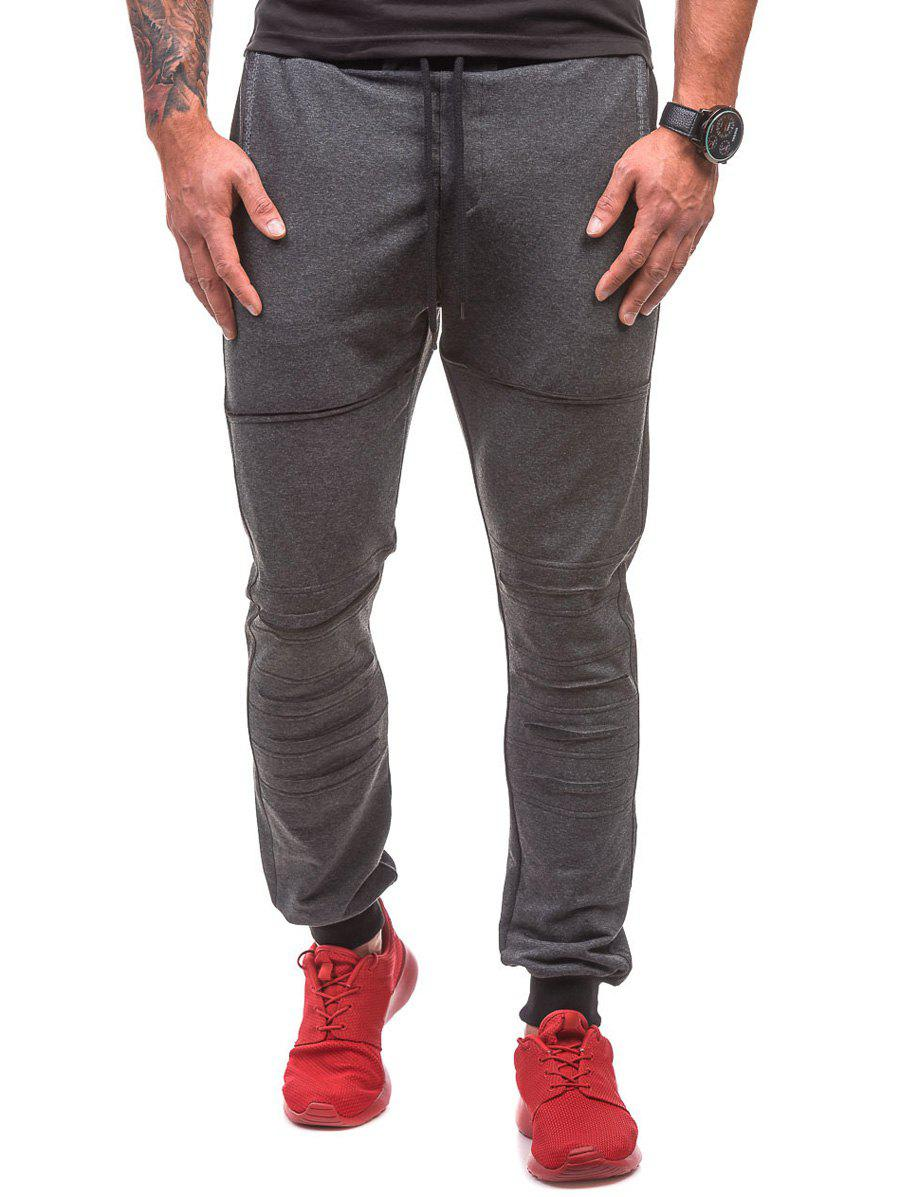 Shops Drawstring Waist Ripped Jogger Sweatpants