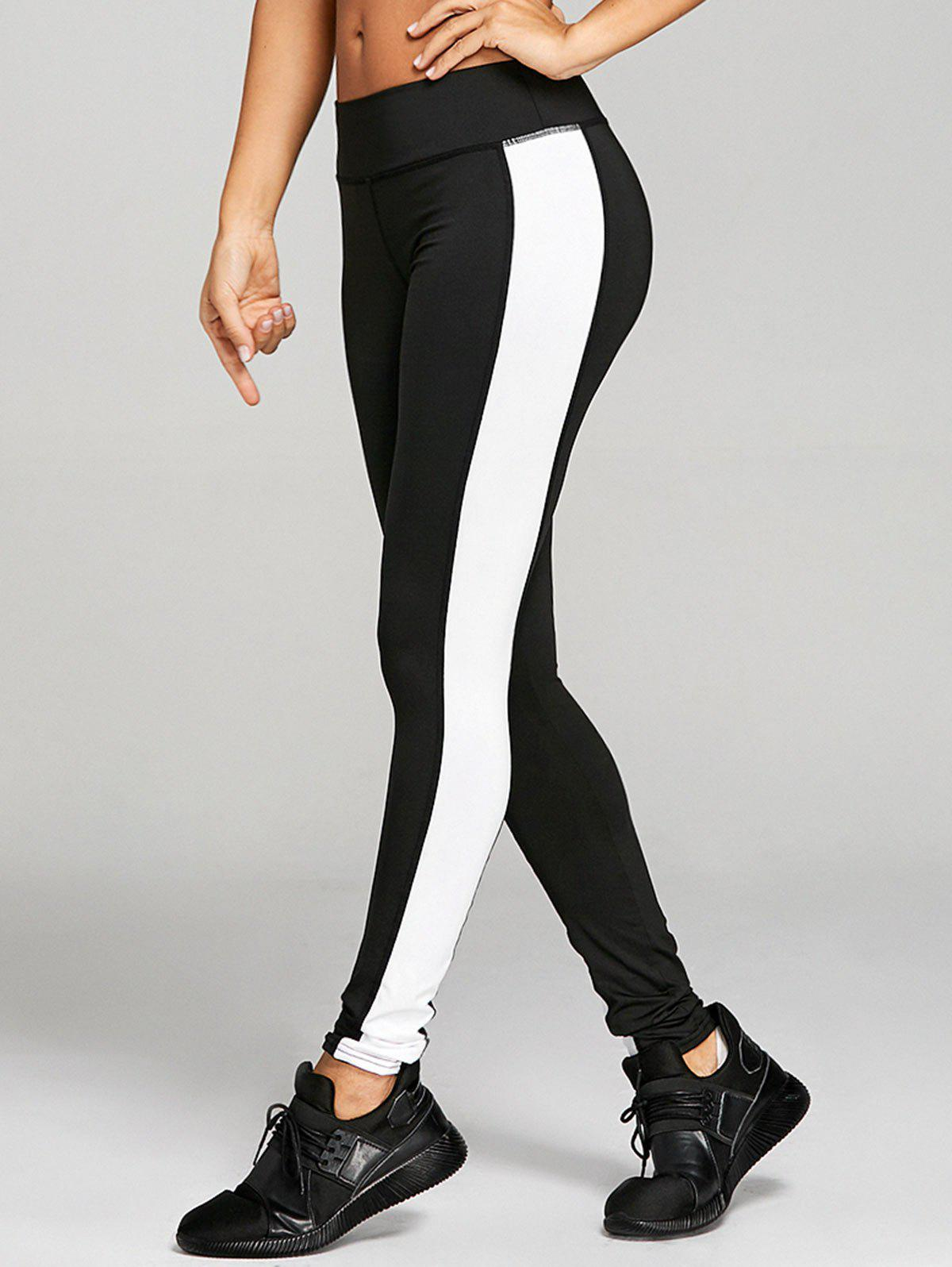 Cheap Stretchy Two Tone Workout Leggings
