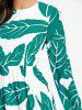 Bohemian Leaves Printed Maxi Dress -