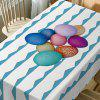 Colorful Eggs Curve Print Waterproof Table Cloth -