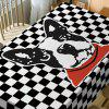 Dog Plaid Print Waterproof Table Cloth -
