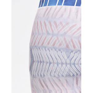 Striped Tie Dye Sports Leggings -