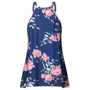 Sleeveless Floral Print T-shirt -