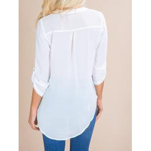 V Neck Front Pocket Shirt -