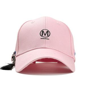 Unique Letter Embroidery Fringed Baseball Hat -