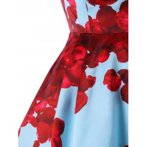 Floral Strapless High Low Party Dress -