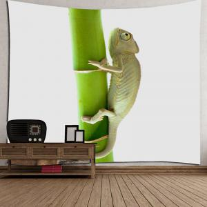 Chameleon Climbing the Tree Printed Tapestry -