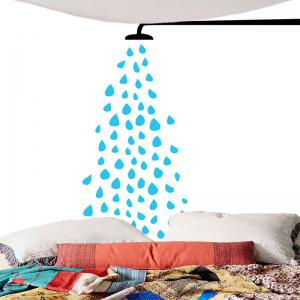 Shower Nozzle Sprinkling Water Print Wall Art Tapestry -