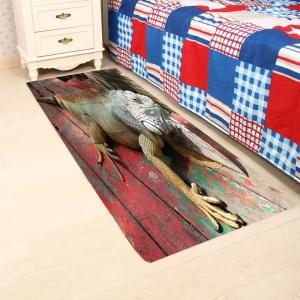 3D Lizard Wood Print Water Absorption Area Rug -