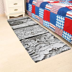 Rotten Wooden Print Water Absorption Area Rug -