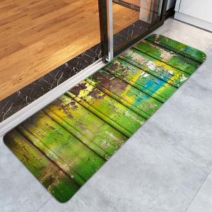 Oil Paint Plank Printed Skidproof Rug -