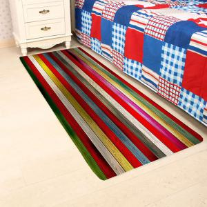 Colorful Laths Printed Skidproof Rug -
