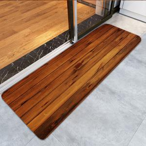 Skidproof Wood Board Printed Rug -