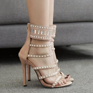 Вышитый бисером Super High Heel Strappy Sandal -