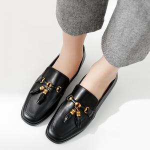 Square Toe Tassels Loafers -