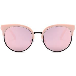 Unique Half Frame Cat Eye Round Sunglasses -