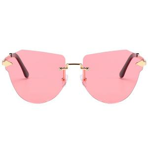 Vintage Arrow Decorated Irregular Rimless Sunglasses -