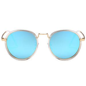 Anti-fatigue Metal Full Frame Round Sunglasses -