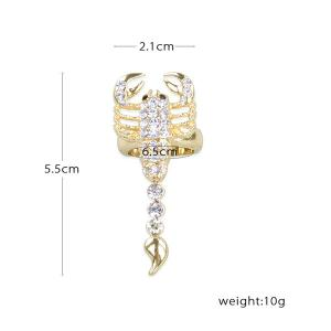 Rhinestone Inlaid Alloy Scorpion Decorated Ring -