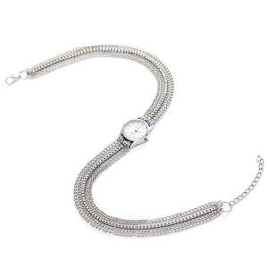 Analog Quartz Metal Wrap Chain Wrist Watch -
