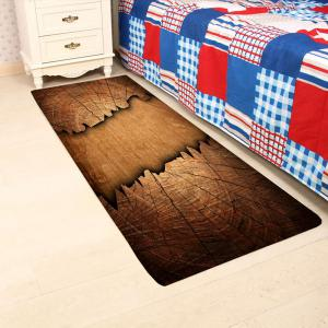 Cracked Laths Print Water Absorption Area Rug -
