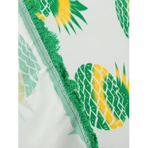 Round Tassel Pineapple Print Beach Throw -