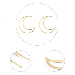 Moon Shape Drop Earrings -