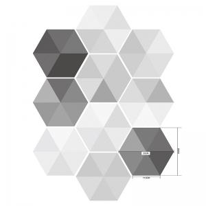 Hexagon Wall Art Stickers Set -