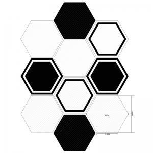 Hexagon Shape 10Pcs Wall Decals -
