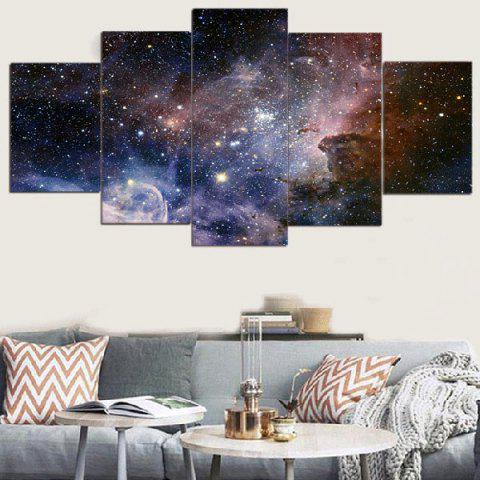 Hot Galaxy Starry Printed Unframed Split Canvas Paintings