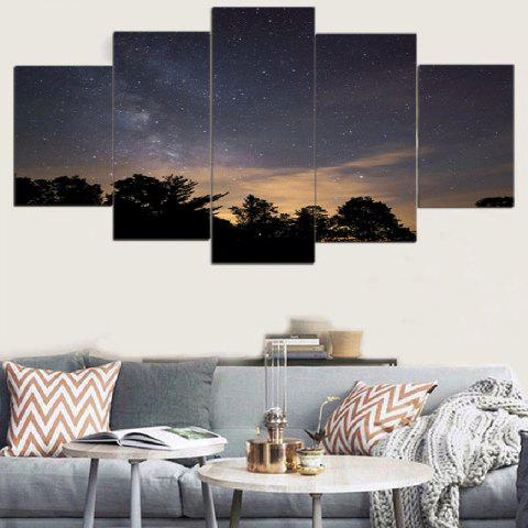Trendy Starry Night Print Wall Art Canvas Paintings