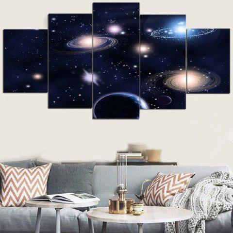 Cheap Galaxy Patterned Split Unframed Canvas Paintings
