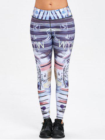 Art Print Skinny Sports Leggings