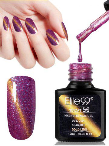 Best 10ML Purple Series Cat Eye Soak Off UV Gel Nail Art Nail Polish