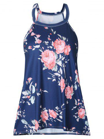 Shop Sleeveless Floral Print T-shirt