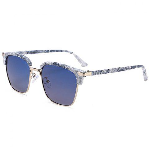 Cheap Unique Semi-frame Square Sunglasses