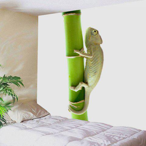 Fancy Chameleon Climbing the Tree Printed Tapestry