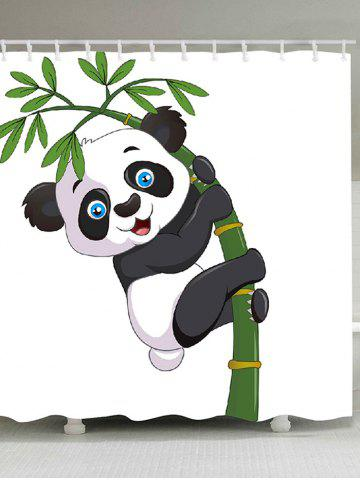 Affordable Adorable Panda Hugging Bamboo Patterned Shower Curtain