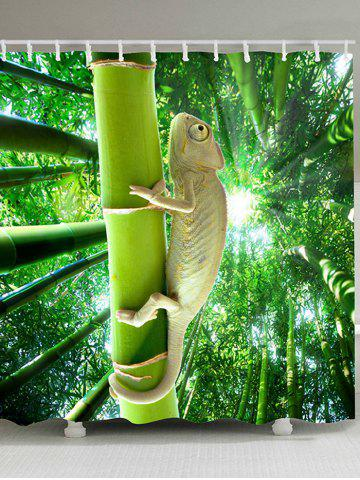 Fashion Lizard Climbing the Tree Patterned Shower Curtain