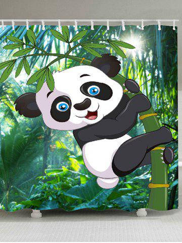 Outfits Cartoon Panda Hugging Bamboo Printed Shower Curtain