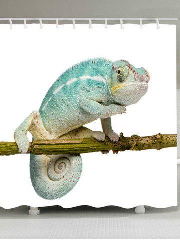 Online Chameleon Stand on the Tree Printed Shower Curtain